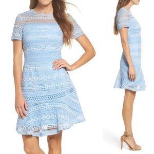 Chelsea28 Blue lace dress size L